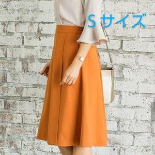 スタイルデリ(STYLE DELI)のエディストクローゼット とろみスカート オレンジ Sサイズ エディクロ(ひざ丈スカート)