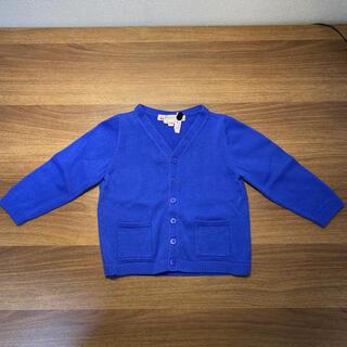 ボンポワン(Bonpoint)のボンポワン カーディガン ブルー 18m(カーディガン/ボレロ)