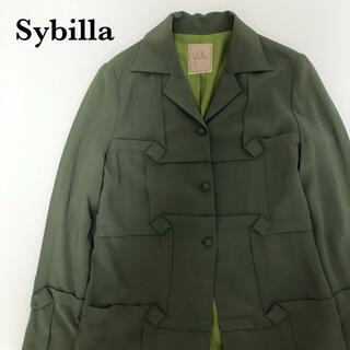 シビラ(Sybilla)のSybilla シビラ デザインジャケット カットソー シャツ レディース(テーラードジャケット)