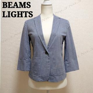ビームス(BEAMS)のBEAMS LIGHTS / ジャケット 七分袖 ライトブルー(テーラードジャケット)