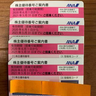 エーエヌエー(ゼンニッポンクウユ)(ANA(全日本空輸))のANA株主優待券4枚(ピンク)(その他)