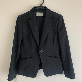 シマムラ(しまむら)のリクルートスーツ 3点セット ジャケット パンツ スカート 黒 ストライプ(スーツ)