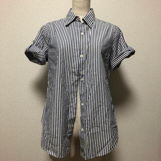 シップス(SHIPS)のブルーのストライプ(シャツ/ブラウス(半袖/袖なし))