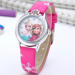 アナトユキノジョオウ(アナと雪の女王)のアナと雪の女王の腕時計☆ショッピングピンク 人気♪SALE中❣️(腕時計)