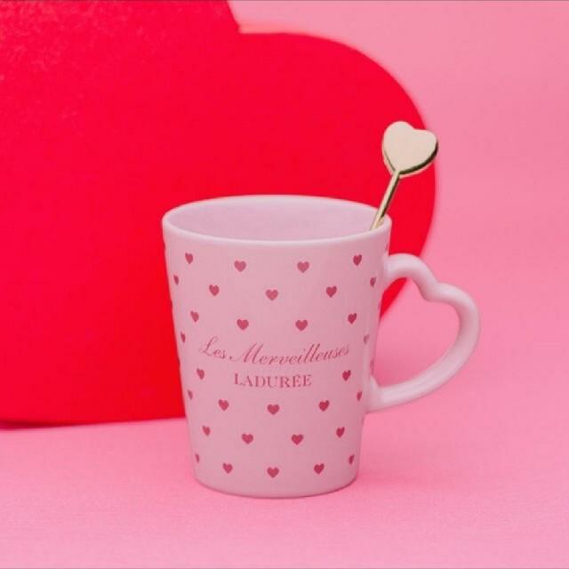 Les Merveilleuses LADUREE(レメルヴェイユーズラデュレ)の新品未使用 ラデュレ マグカップ インテリア/住まい/日用品のキッチン/食器(グラス/カップ)の商品写真