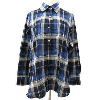 ボッシュ(BOSCH)のボッシュ BOSCH シャツ 長袖 チェック 胸ポケット コットン オーバーサイ(シャツ/ブラウス(長袖/七分))