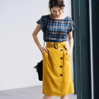 ジャスグリッティー(JUSGLITTY)のJUSGLITTY スウェードトレンチタイトスカート(ひざ丈スカート)
