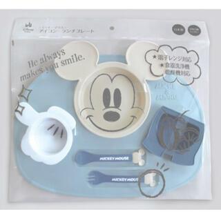 ディズニー(Disney)の【新品・未使用】ミッキーマウス アイコンランチプレート&小皿3枚セット(離乳食器セット)