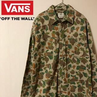 ヴァンズ(VANS)の【古着好き必見!】VANS 迷彩柄 カモフラ ミリタリーシャツ Lサイズ(シャツ)