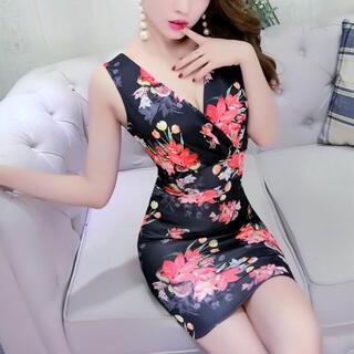 リップサービス(LIP SERVICE)の花柄デザインワンピース キャバ ドレス(ナイトドレス)