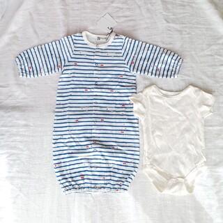 ニットプランナー(KP)の再々値下げ!新品KP 新生児~70cm 2wayドレス(カバーオール)