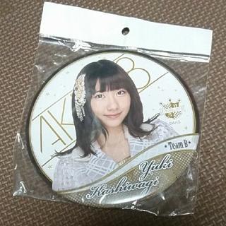 AKB48! 柏木由紀 デカ缶バッジ(アイドルグッズ)