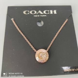 コーチ(COACH)のCOACHローズゴールドネックレス(ネックレス)