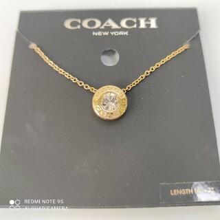 コーチ(COACH)のCOACHゴールドネックレス(ネックレス)