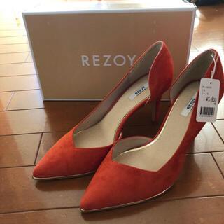 リゾイ(REZOY)の新品未使用 パンプス REZOY オレンジ(ハイヒール/パンプス)