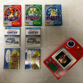 ポケモン(ポケモン)のポケットモンスター 初期ゲームボーイ赤・緑・青箱&カードファイル(携帯用ゲームソフト)