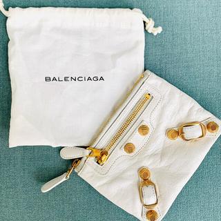 Balenciaga - 値下げ♡BALENCIAGA CLASSICカードコインケース ホワイト