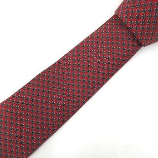 ロエベ(LOEWE)のロエベ LOEWE ネクタイ シルク100% 総柄 赤 レッド ブランド 小物(ネクタイ)