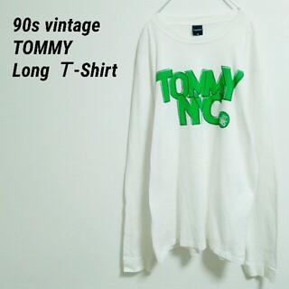 トミー(TOMMY)の90s TOMMY トミー 長袖Tシャツ ロングTシャツ ビッグロゴ(Tシャツ/カットソー(七分/長袖))