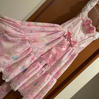 アンジェリックプリティー(Angelic Pretty)のJewel  Marine ジャンパースカート ピンク(ひざ丈ワンピース)