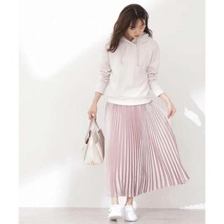 プロポーションボディドレッシング(PROPORTION BODY DRESSING)の今季サテンプリーツスカート(ロングスカート)