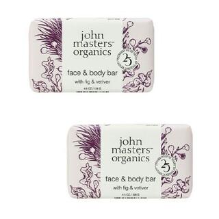 ジョンマスターオーガニック(John Masters Organics)の新品✨ジョンマスターオーガニック❤F&Vソープ〈フィグ&ベチバー〉2個セット(ボディソープ/石鹸)