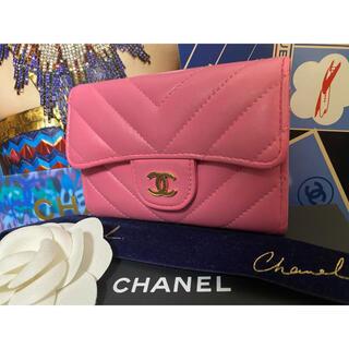 シャネル(CHANEL)の専用♪ CHANEL シェブロン カードケース ピンク お買い得価格(コインケース)