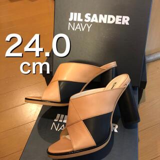 ジルサンダー(Jil Sander)の【JILSANDER  NAVY】ヒールサンダル 24.0(ハイヒール/パンプス)