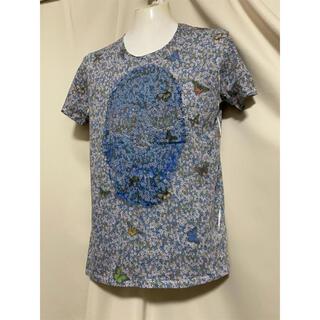 マックスシックス(max six)のmaxsix マックスシックス バタフライスカル 総柄Tシャツ カットソー 蝶(Tシャツ/カットソー(半袖/袖なし))