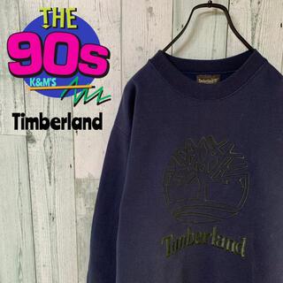 ティンバーランド(Timberland)の90's ティンバー ランド ウェザーギア ビッグロゴ刺繍 スエットトレーナー(スウェット)