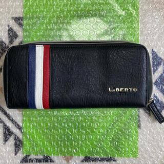 エドウィン(EDWIN)のLiBERTO EDWIN  ファスナー式 長財布 ブラック(長財布)