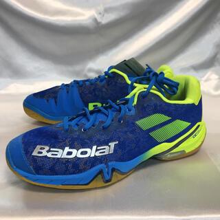 バボラ(Babolat)のバドミントン バボラ シューズ  シャドウツアーM 27.5cmブルーイエロー(バドミントン)
