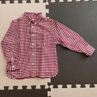 ムジルシリョウヒン(MUJI (無印良品))の無印良品★チェックシャツ110cm(ブラウス)