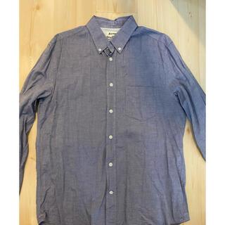 アクネ(ACNE)のAcne studios メンズ ボタンダウンシャツ ブルー サイズ50(シャツ)