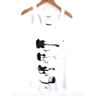 イレブンパリ(ELEVEN PARIS)のELEVEN PARIS(イレブンパリス) ギタープリント 刺繍 タンクトップ(タンクトップ)