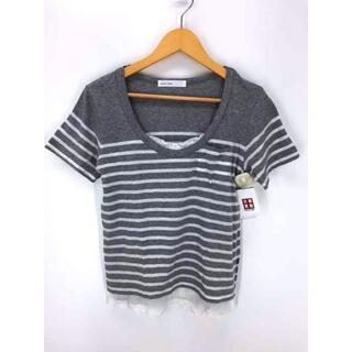 サカイラック(sacai luck)のsacai luck(サカイラック) 半袖 ボーダーカットソー レース トップス(Tシャツ(半袖/袖なし))