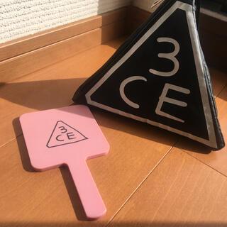 3ce - 3CE 三角ポーチ&手持ちミラー
