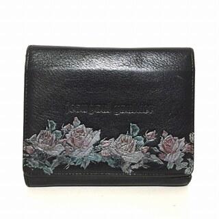 ジャンポールゴルチエ(Jean-Paul GAULTIER)のゴルチエ Wホック財布 - 黒×マルチ レザー(財布)