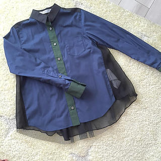 サカイラック(sacai luck)の値下げ☆サカイラック チュールシャツ(シャツ/ブラウス(長袖/七分))