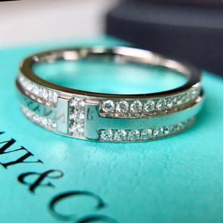 ティファニー(Tiffany & Co.)のティファニー tツー ナローリング K18ホワイトゴールド(リング(指輪))