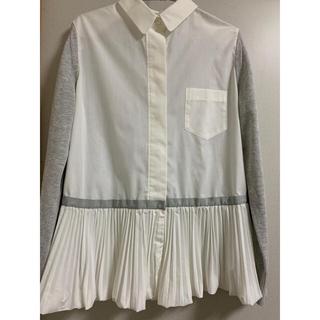 サカイ(sacai)のsacai サカイ プリーツシャツ ドッキングシャツ(シャツ/ブラウス(長袖/七分))
