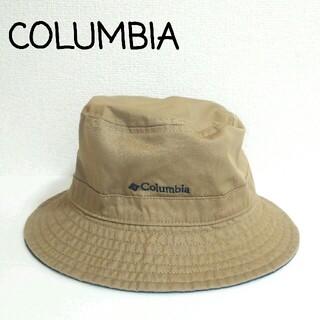 コロンビア(Columbia)の美品 コロンビア リバーシブル コットンハット ベージュ ネイビー(ハット)