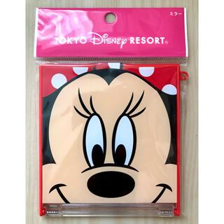 ディズニー(Disney)の新品 東京ディズニーリゾート ミニーマウス ミラー 赤×ドット(その他)