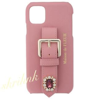 メゾンドフルール(Maison de FLEUR)のメゾンドフルール♡ビジューバックルベルトiPhone12ケース♡ジルスチュアート(iPhoneケース)