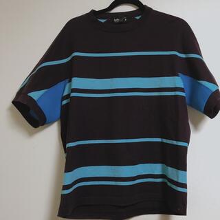 カラー(kolor)のkolor  半袖 ボーダー 脇切り替え  即購入OK(Tシャツ/カットソー(半袖/袖なし))