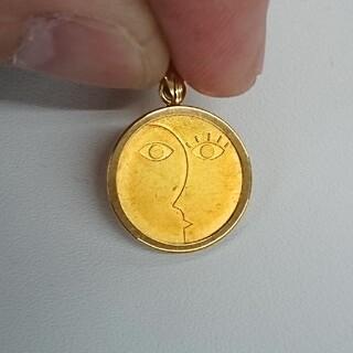 k18 コイン型 ペンダントトップ(ネックレス)
