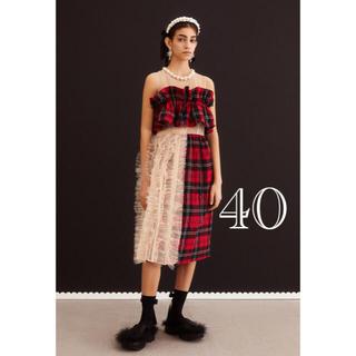 エイチアンドエム(H&M)のSIMONE ROCHA × H&M チュールデコレーション コットンドレス(ロングワンピース/マキシワンピース)
