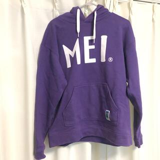 エムイーアイリテールストア(MEIretailstore)のMEI プルオーバー ロゴパーカー Mサイズ 紫色 USED 古着(パーカー)
