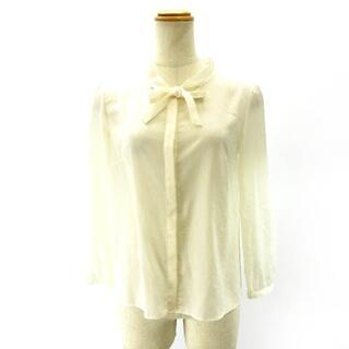 トッカ(TOCCA)のトッカ TOCCA ボウタイシャツ ブラウス リボン 白 ホワイト 0 S IB(シャツ/ブラウス(長袖/七分))