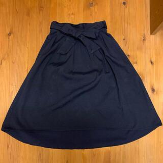 紺色 スカート(ひざ丈スカート)